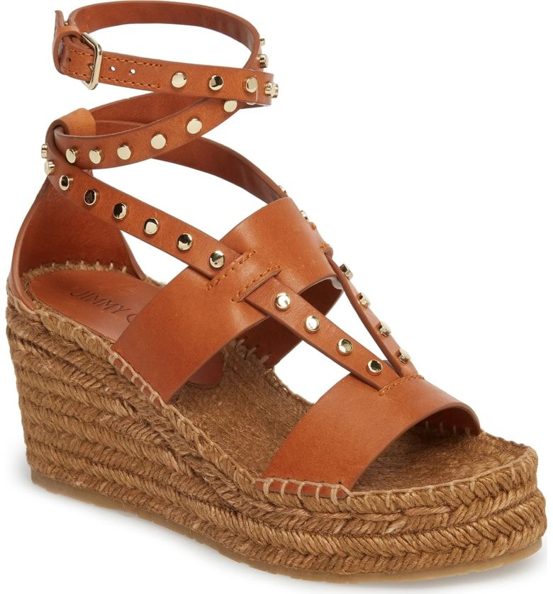 75d20a394f1 ... Wedge Espadrille (Women) at Nordstrom.com. Gilded studs highlight the  chic