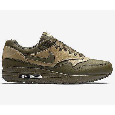 Nike Air Max 1 Leather Premium Mens 705282 300 Loden Green