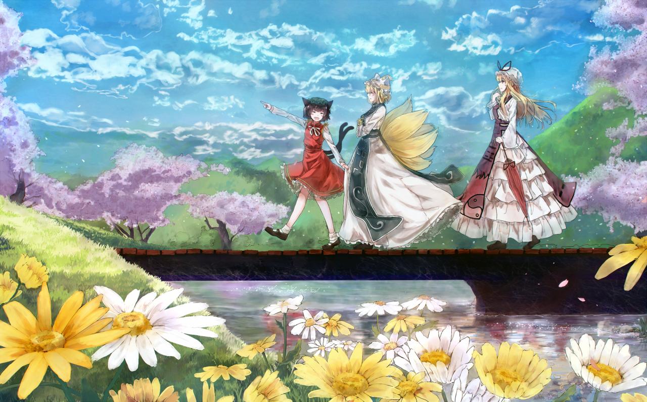 Chen, Ran and Yukari Yakumo
