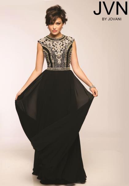 JVN by Jovani Sleeved Beaded Prom Dress JVN24413 | Prom, Jovani ...