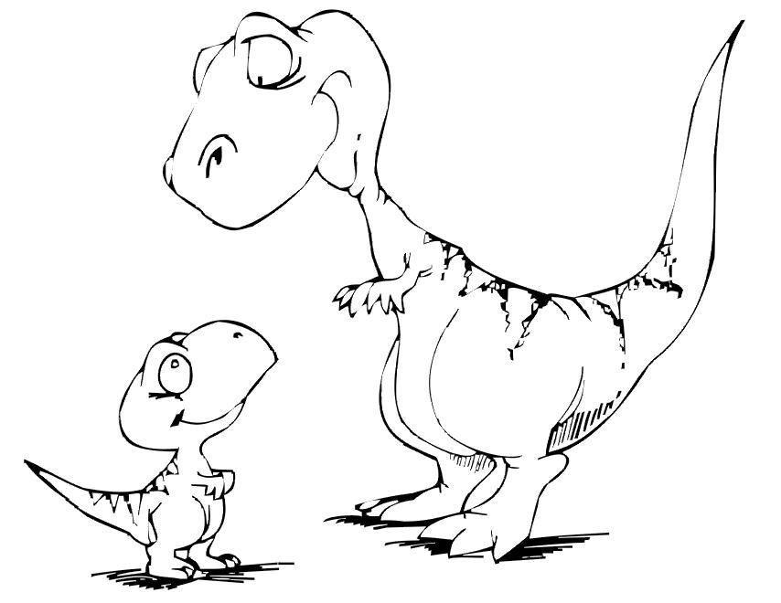 Dibujos para Colorear de Dinosaurios 3 | Dibujos Online ...