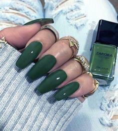 Emerald Green Nails Green Nails Ballerina Nails Nails