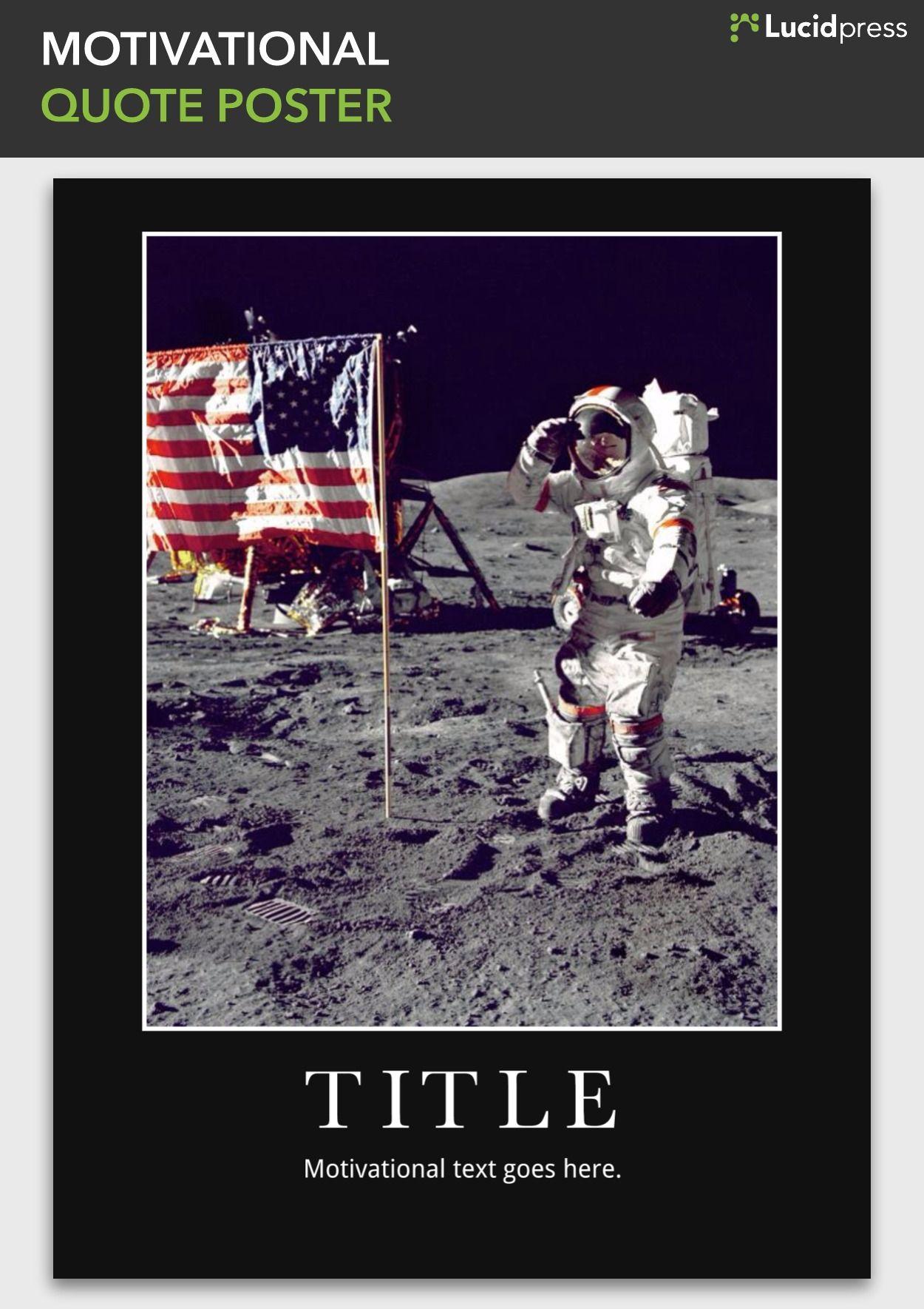 Motivational Quote Poster Template Branding Design Pinterest
