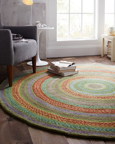 Garnet Hill Fair Isle Hooked Wool Rug