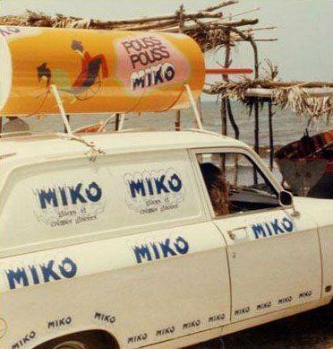 Peugeot 204 Miko Voiture publicitaire artisanale sur la côte d'Azur ou l'étang de Thau