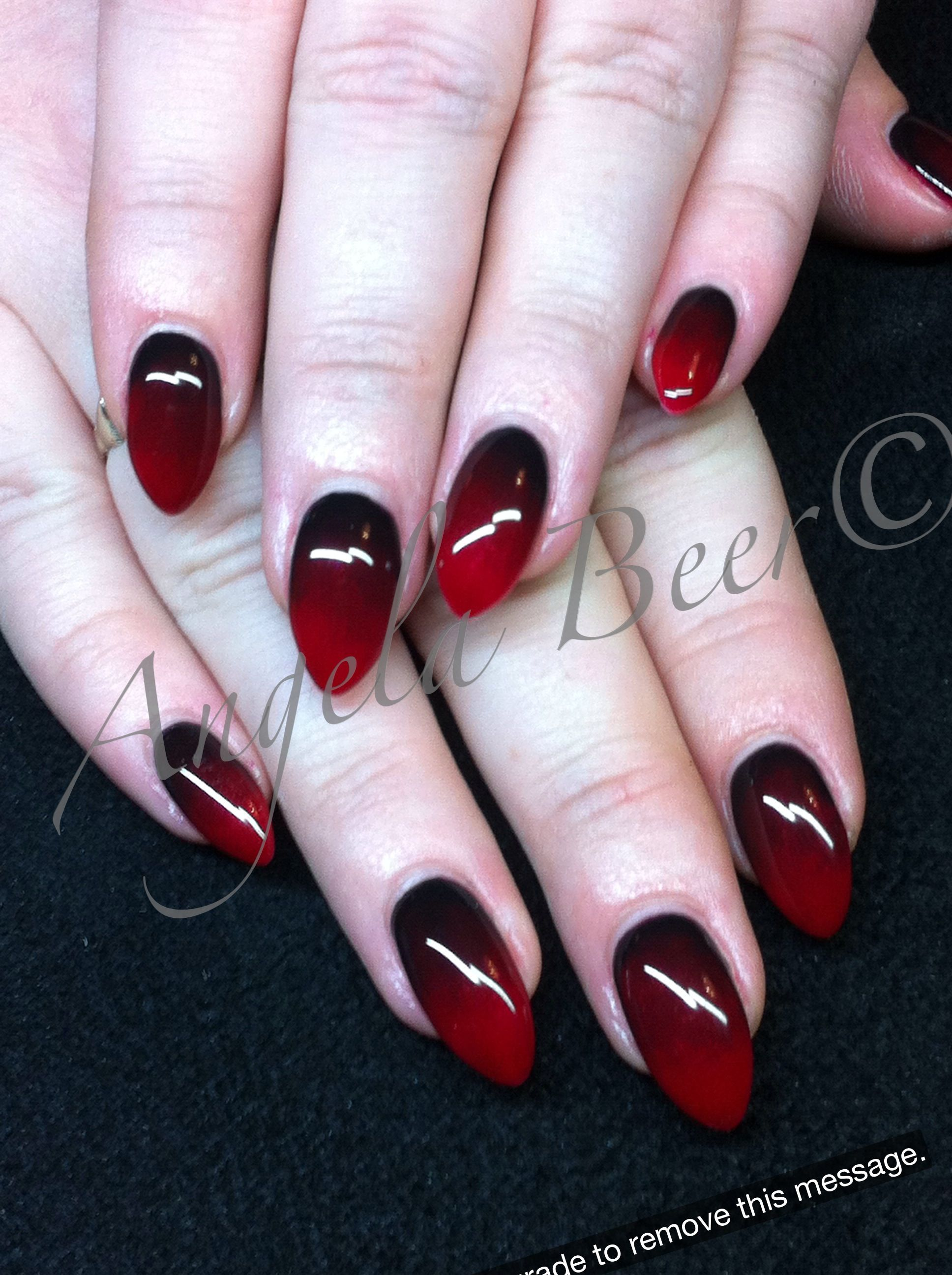 Im actually pretty close to being able to do this to my nails vampire nails to go with my halloween costume prinsesfo Choice Image