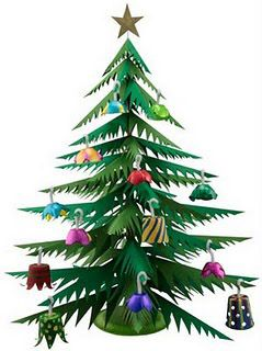faciles para nios en navidad arbol de navidad de papel
