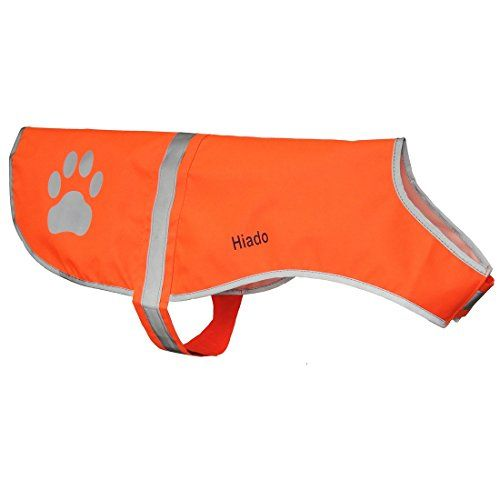 Hiado Reflective Dog Vest Dress with Velcro for Walking Hiking and Hunting (Chest 36.6-41.3 Inch, Orange,Extra Large, Xxl) -- Click image to review more details.