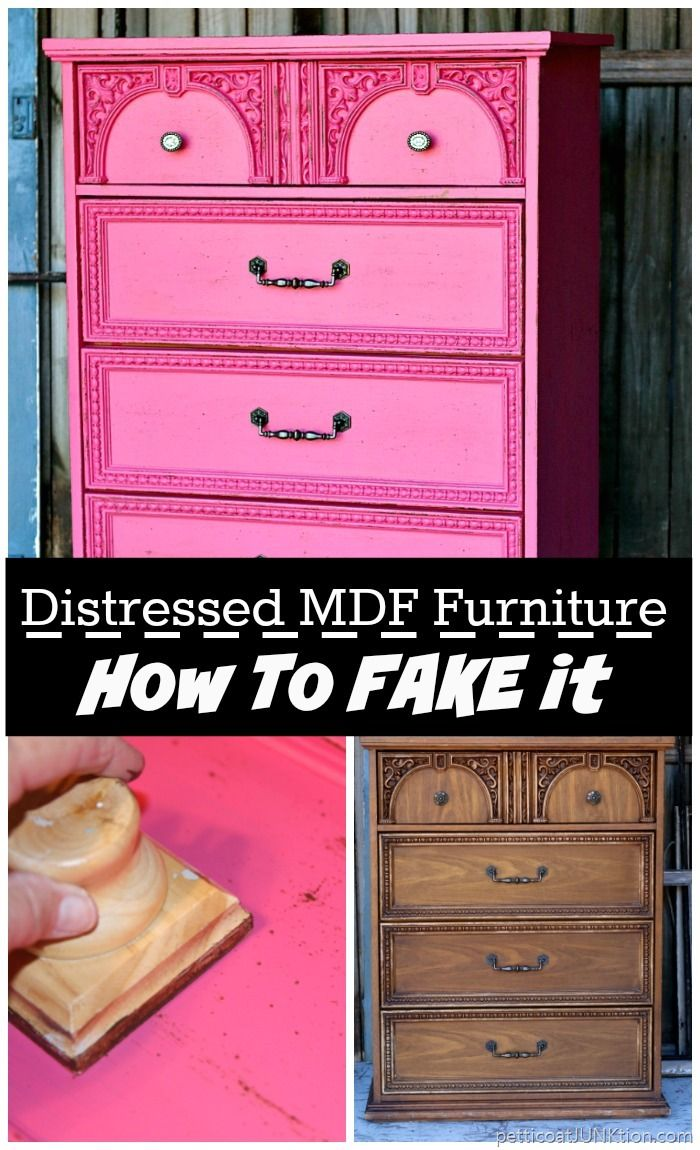 How To Distress Fake Wood Furniture And Add Faux Distressing