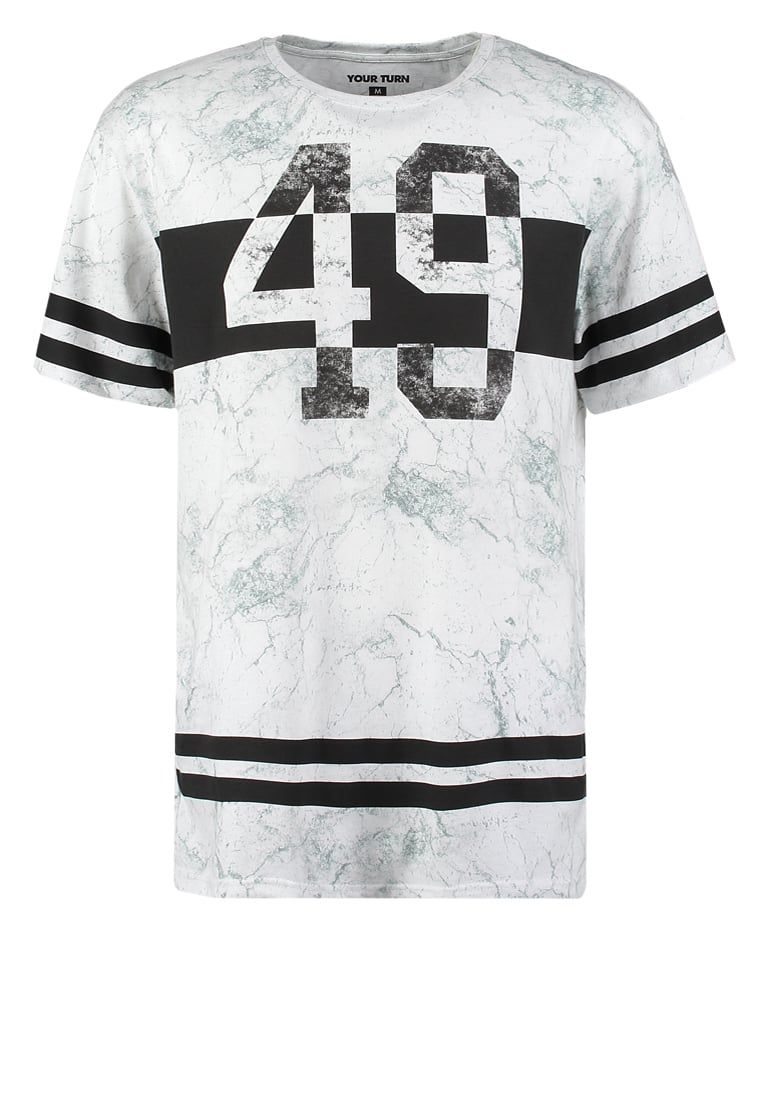 7f7e07aee0 YOUR TURN Camiseta print - white black - Zalando.es