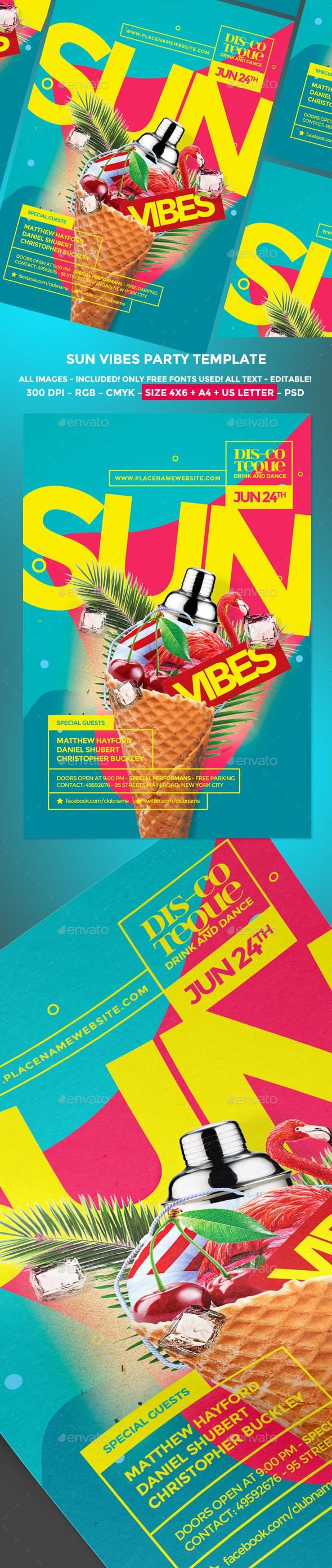 Summer Party Flyer | Party flyer, Summer poster and Flyer size