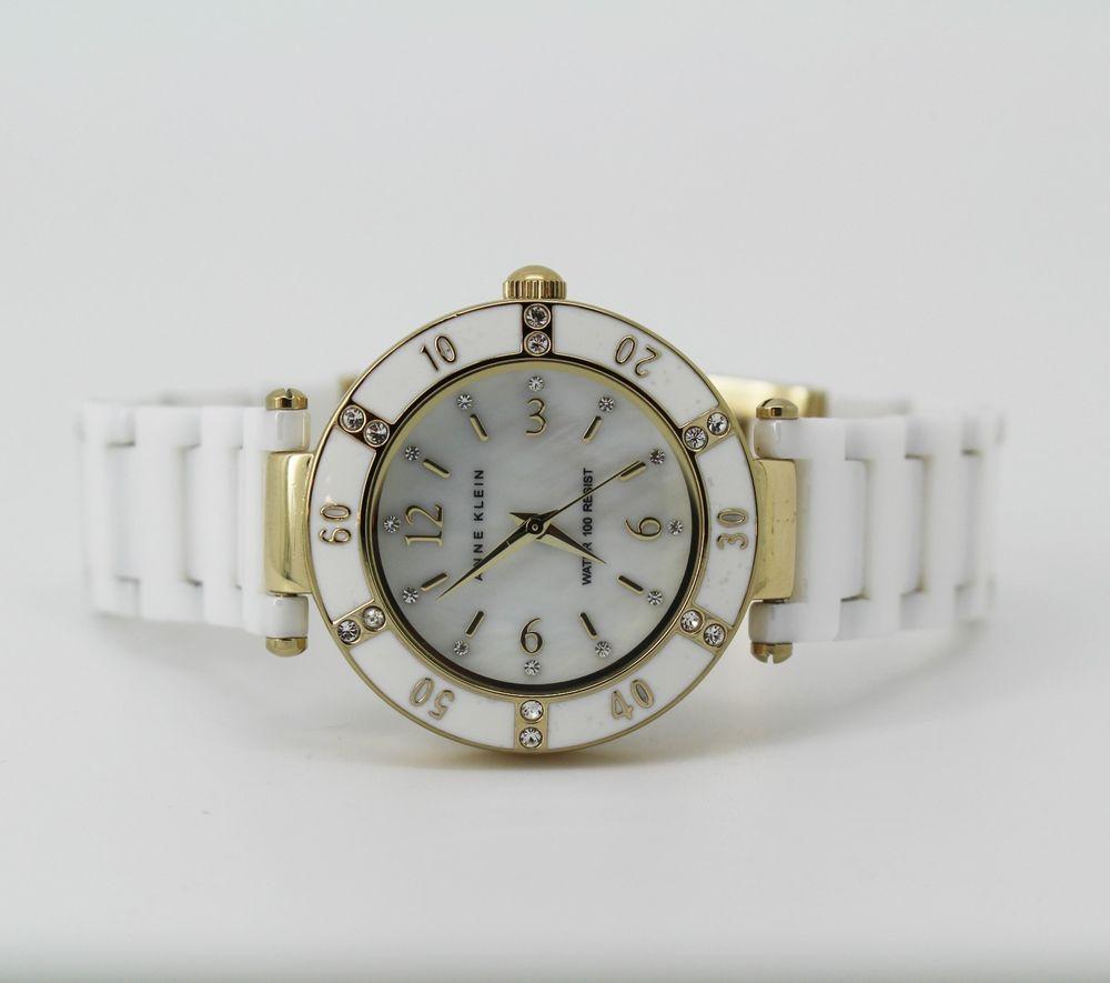 Anne Klein Watch Women S White Ceramic Bracelet 10 9416wtwt Anne Klein Watch Anne Klein Watches Women Womens Watches