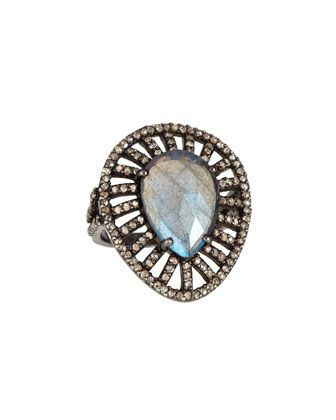 Bavna Labradorite & Diamond Cocktail Ring NBgeJEO