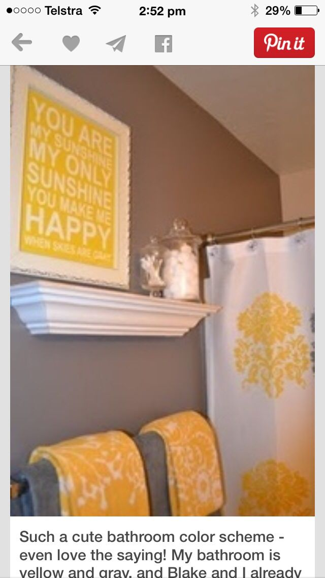 Yellow Tones Bathroom Color Schemes Colors Small Decor