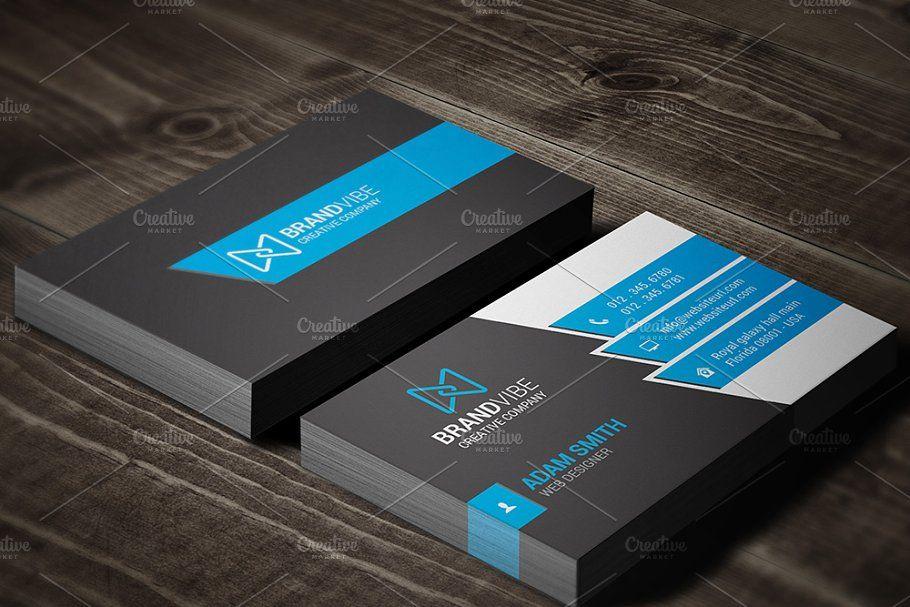 Modern Business Card Template Business Modern Card Templates