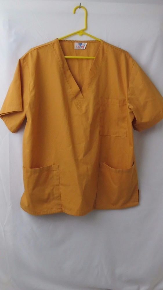Expo Uniform Scurb Top Yellow Size 1XL XL Plus size  #ExpoUniform