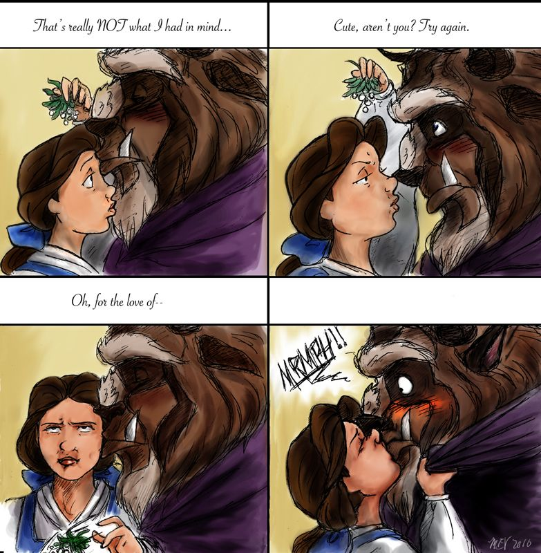 Meme Kiss And Makeup: Beauty And The Beast Kiss Meme By ~magna-est-veritas On