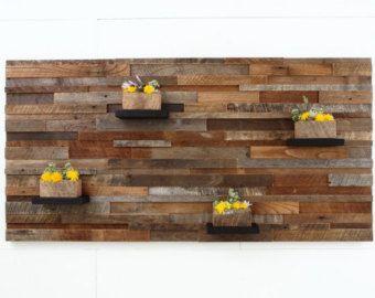 Bois récupéré wall art 37 x 24 x 5 grand art par CarpenterCraig