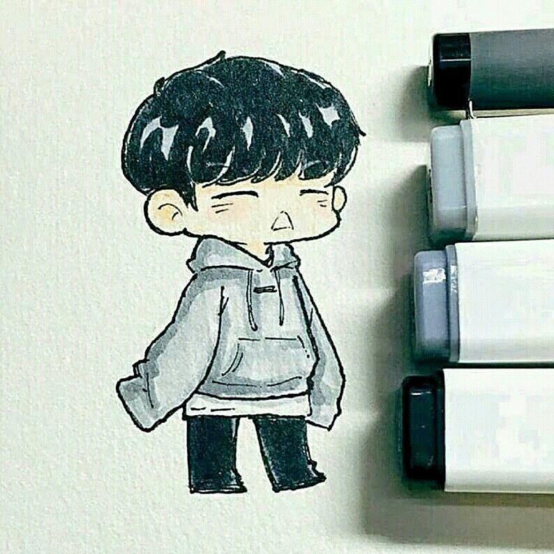 Pin by Bon on My artwork Bts chibi, Bts drawings, Kpop