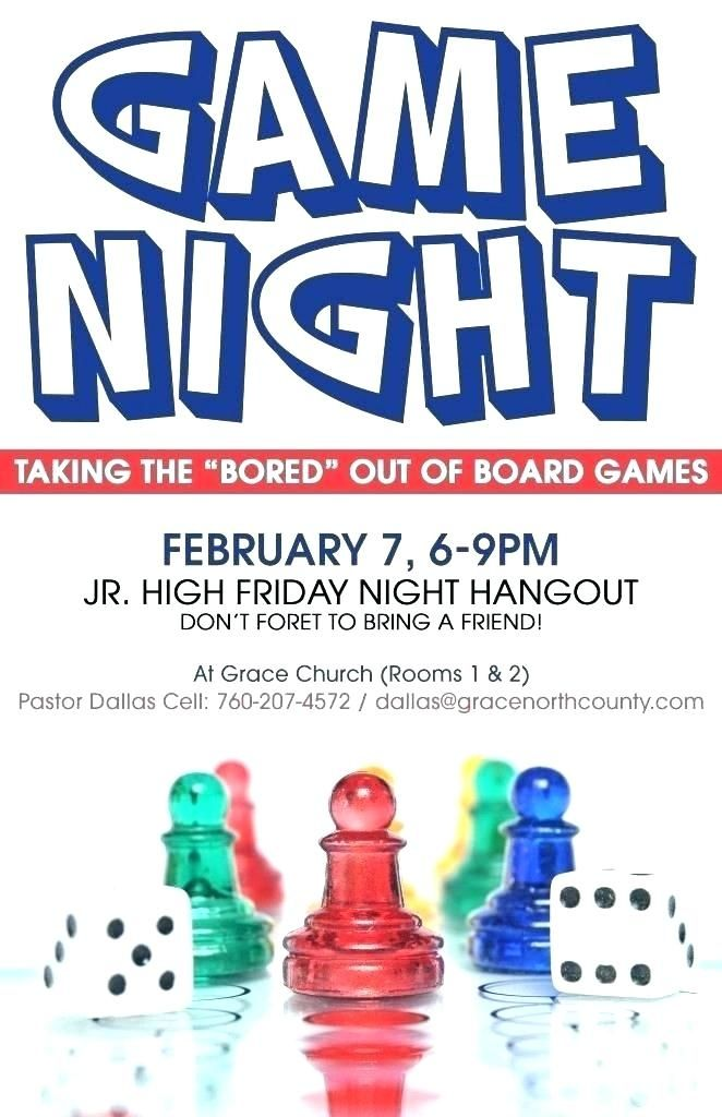 Game Night Flyer Templates Download Family Night Flyer