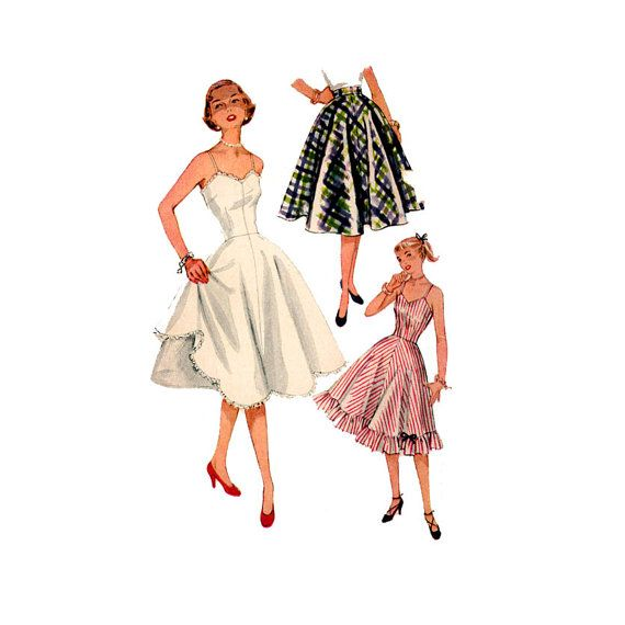 1950s Slip Petticoat Pattern Simplicity 3766 Bust 30 31 Fit & Flared ...