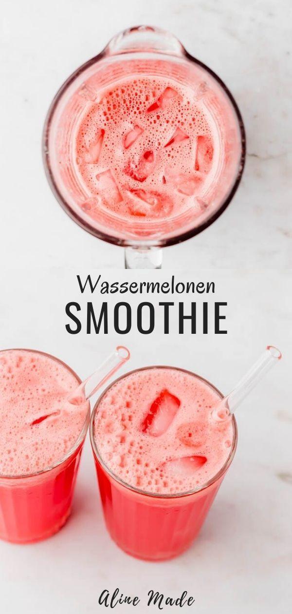 Wassermelonen Smoothie, auch bekannt als Agua de Sandia, ist ein sehr gesundes, erfrischendes und leckeres Sommergetränk. Das Beste am Rezept, du brauchst nur eine Zutat und 5 Minuten Zeit. #wassermelone #rezept #smoothie #getränke #sommer #mexikanische #rezepte