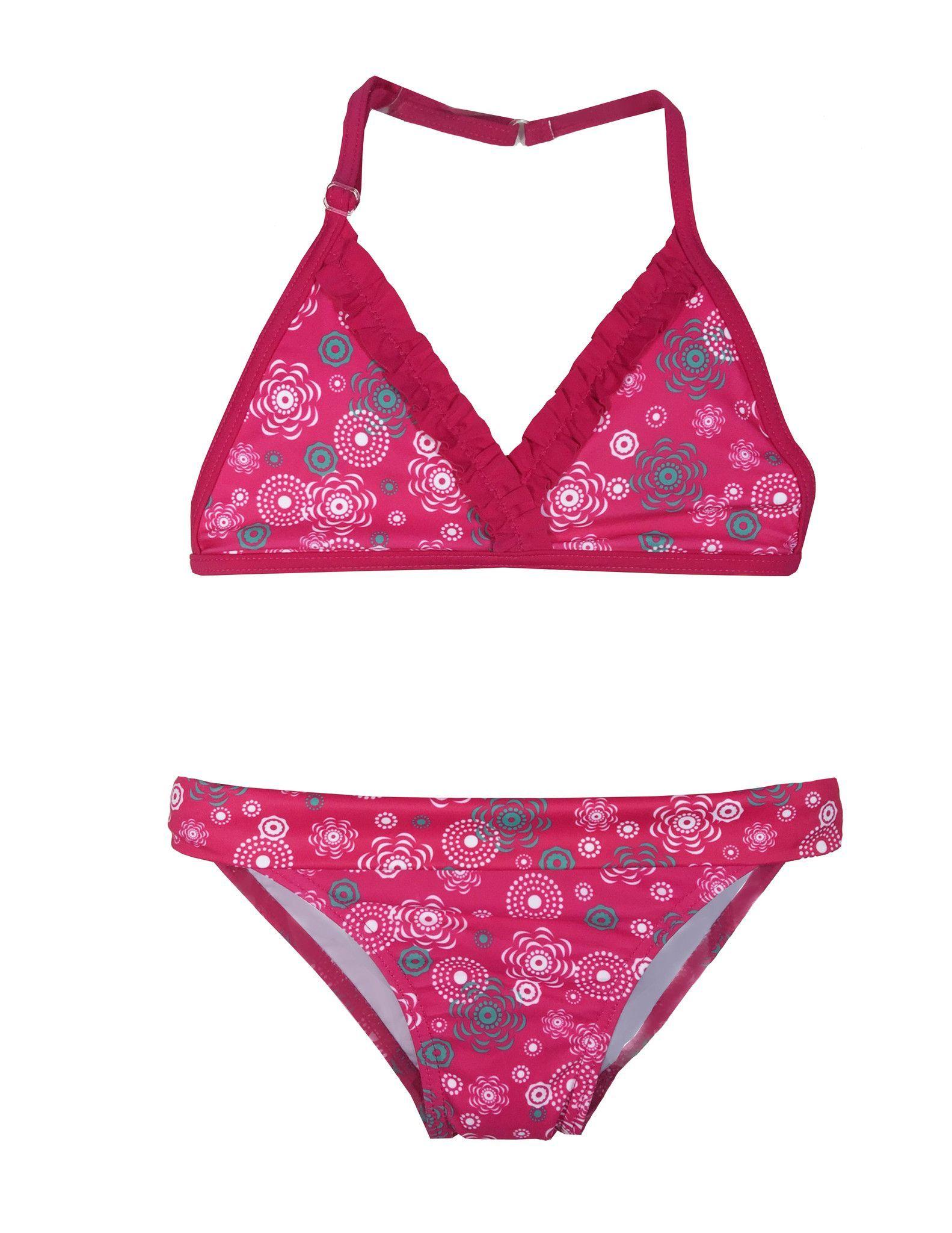 Girls Red Rose Bikini