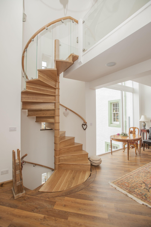 Spiral Staircase To Manse Refurbishment Fife Wooden Staircase Design Staircase Design Staircase Contemporary