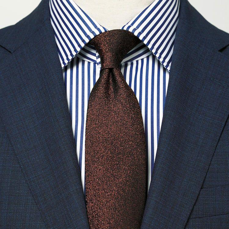 ストライプ スーツ ネクタイ