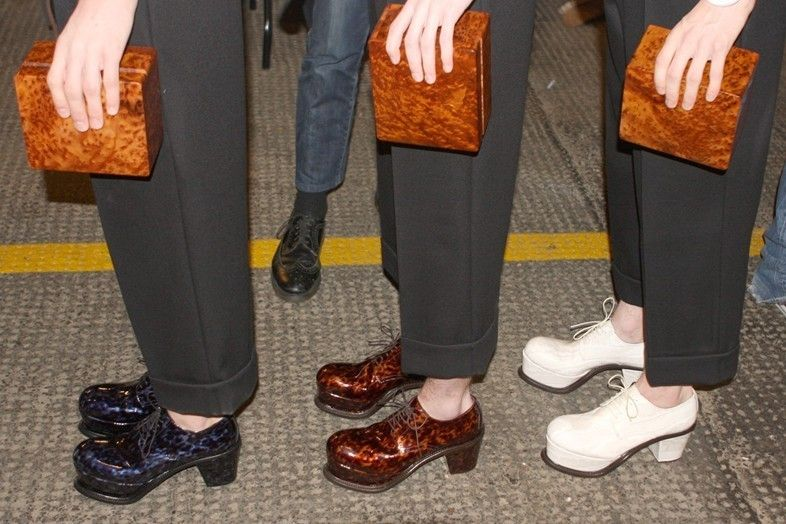 Backstage at J.W Anderson Menswear AW14