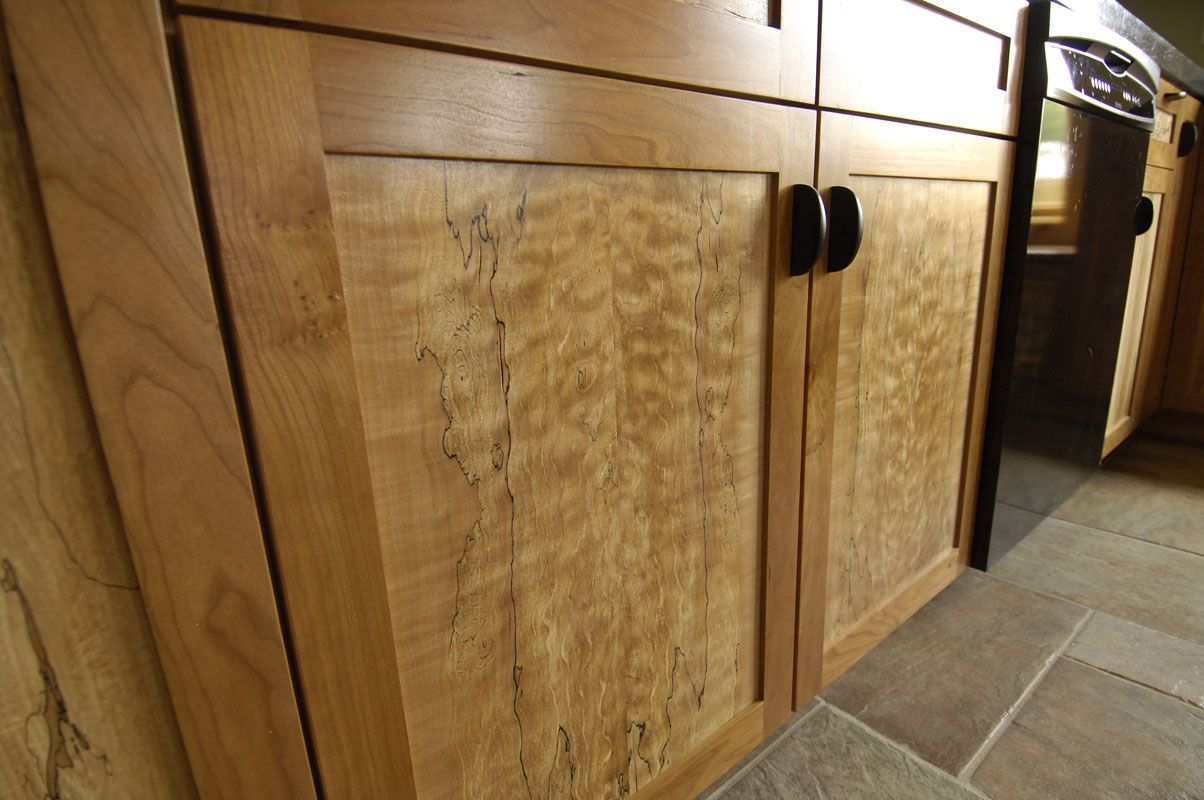 Bookmatched Spalted Maple And Cherry Kitchen Spalted Maple Cross
