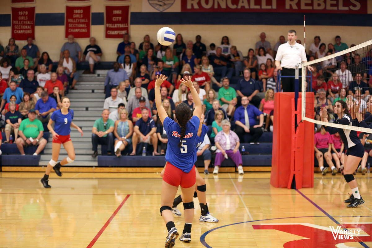 Girls Varsity Volleyball Roncalli Vs Cathedral Cathedral High School Varsity Cathedral