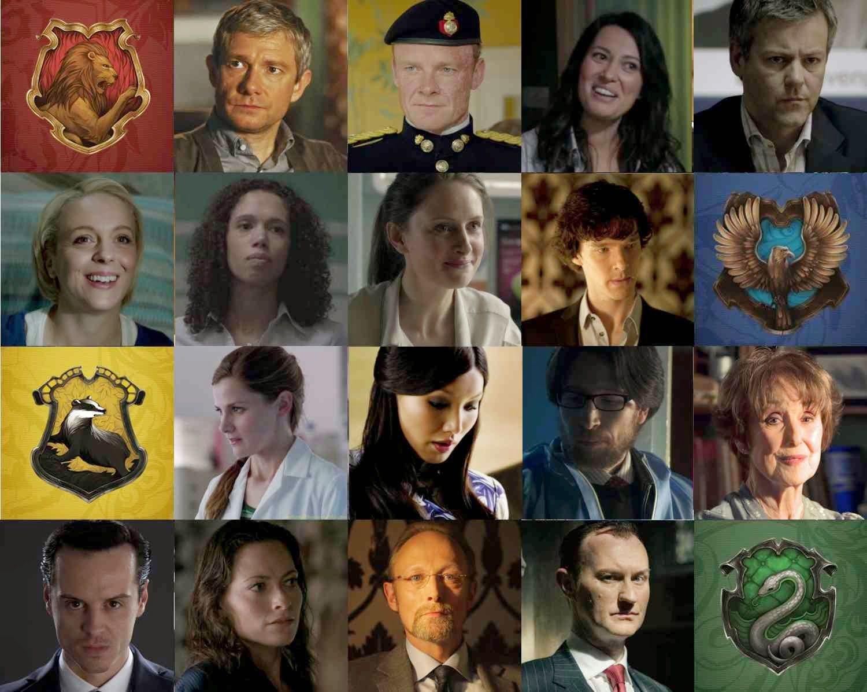 Sherlock characters sorted into Hogwarts Houses.   ϟ ... - photo#14