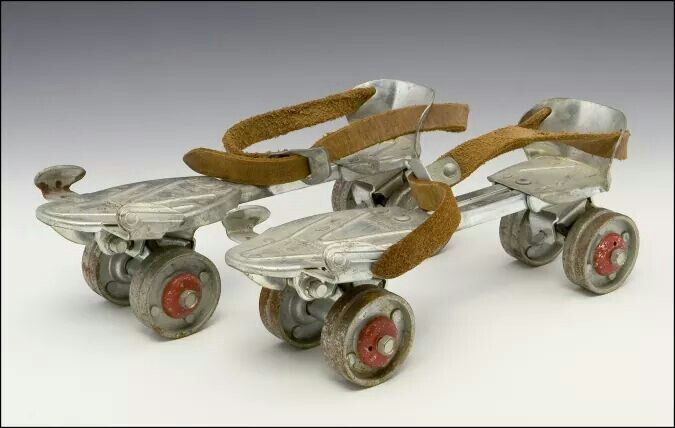 Shoe in roller skates. Put your shoes