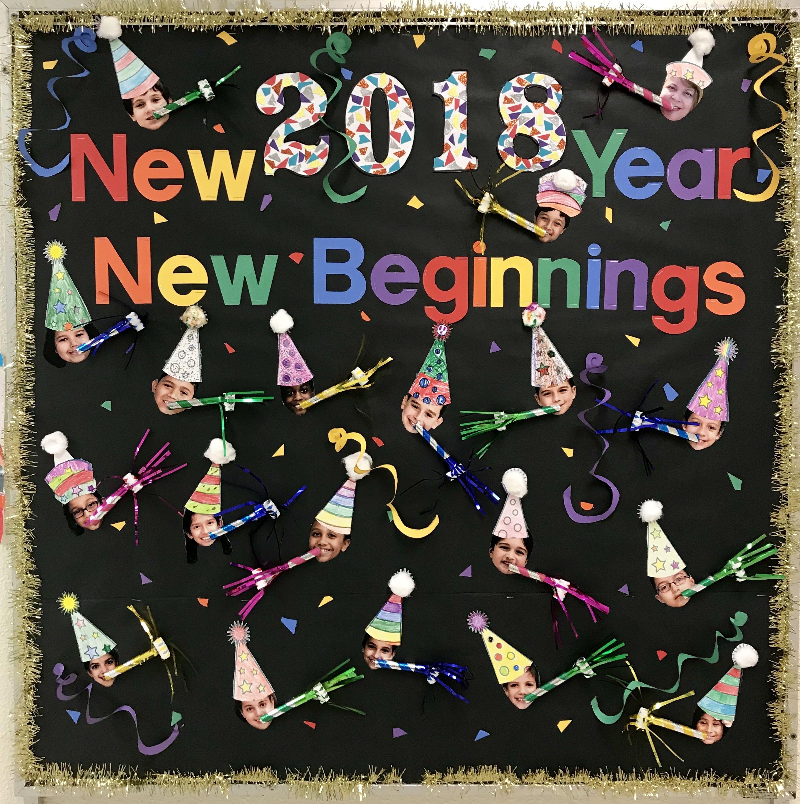 New Year Bulletin Board Winter Boards Classroom Preschool