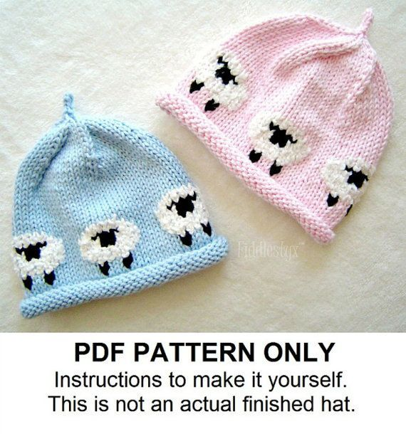 Hat Knitting Pattern - Little Lamb Hat - Woolly Sheep Hat - the ...