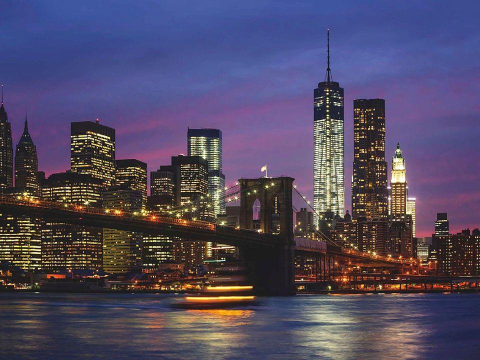 Home affaire Glasbild »Brooklyn Bridge, East River und Manhattan in ...