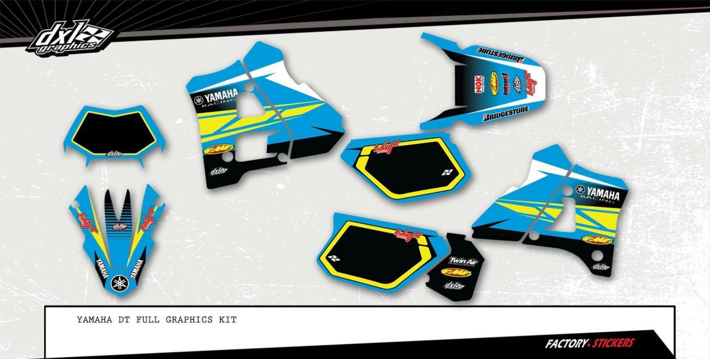 Yamaha bike sticker designs -  Yamaha Dt200 2 Stroke Custom Dirt Bike Vintage