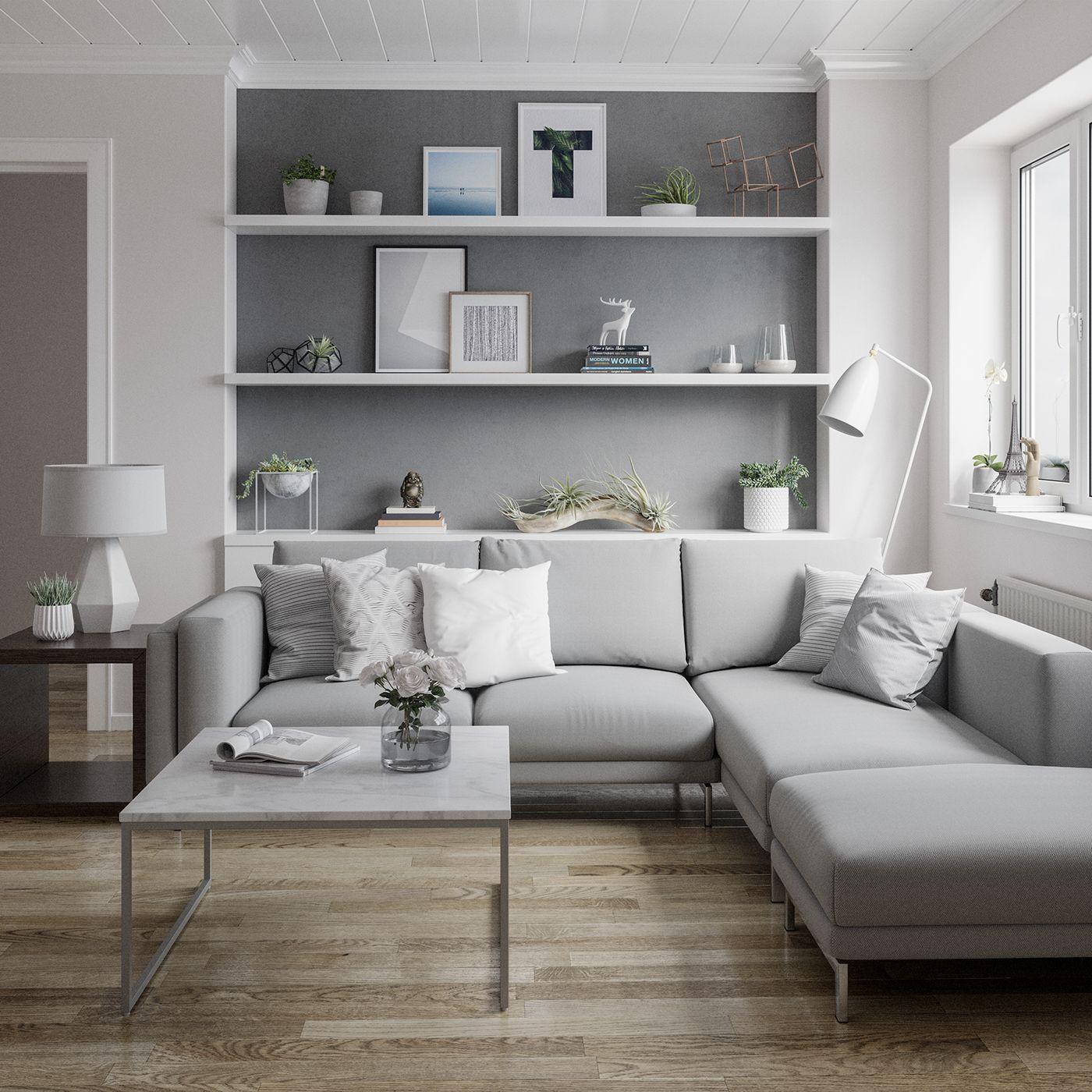 Scandinavian Living Room On Behance Living Room Scandinavian