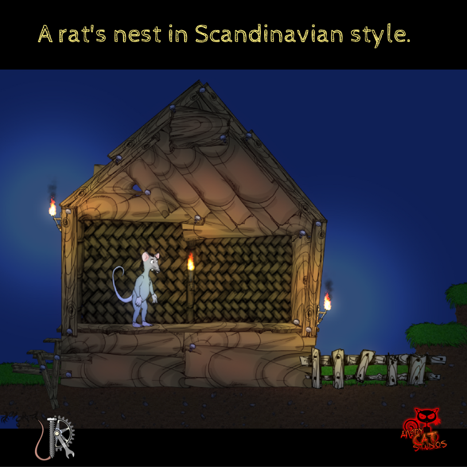 A rat's nest in Scandinavian style :) #angrycatstudios #jetrat #unity #game #rattastic #pc #graphics #rat #scandinavian #style #developer #rattastic