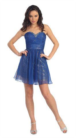 Short Chiffon Sparkle Dress