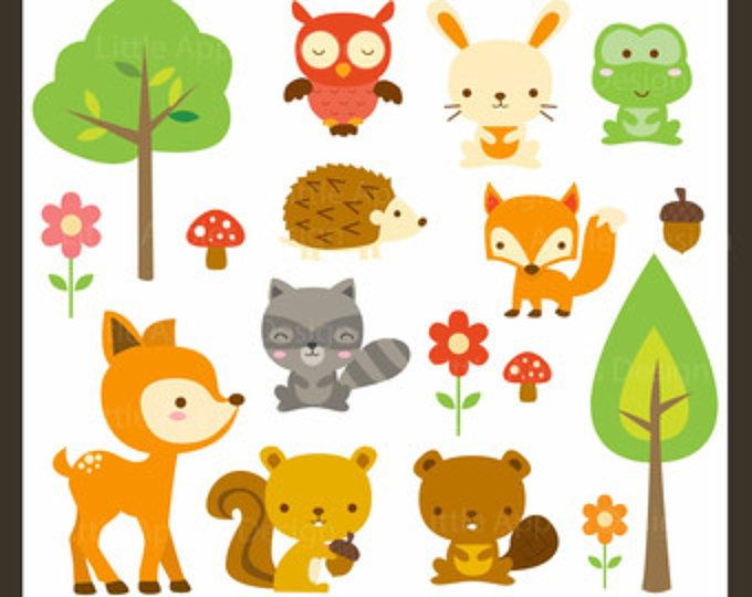 Woodland Tribal Animals Clipart Forest Animal Clip Art Tribal Clipart Digital Download Cute Woodland Nursery Digital Clipart Set Cute Animal Clipart Woodland Clipart Woodland Animals
