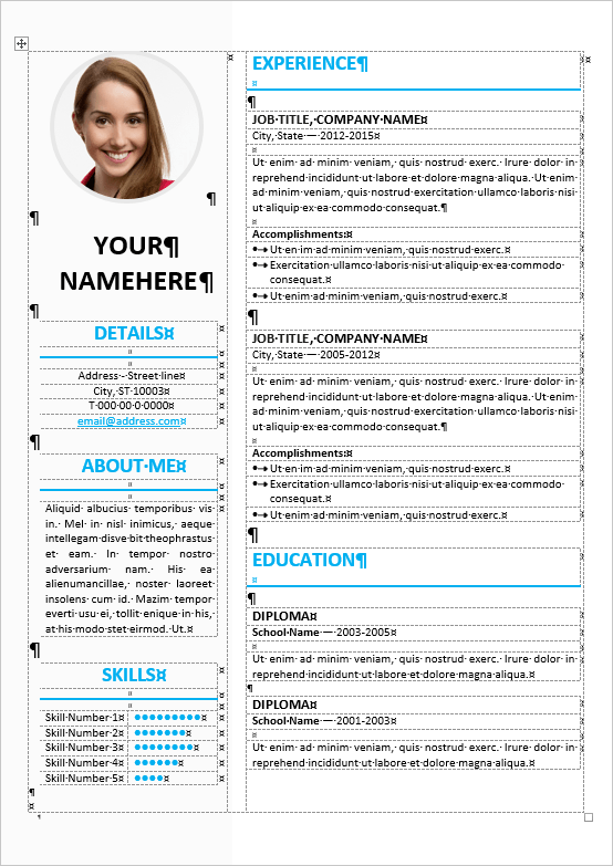 ikebukuro editable elegant resume template for ms word to