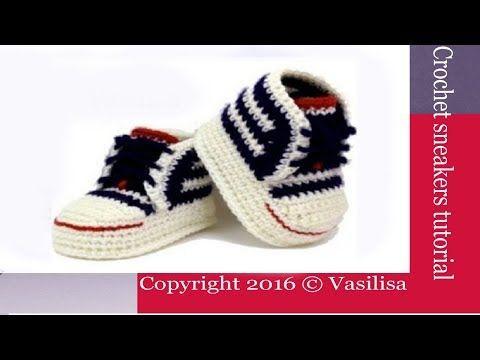 DIY crochet baby sneakers //Vasilisa - YouTube | Haken | Pinterest ...