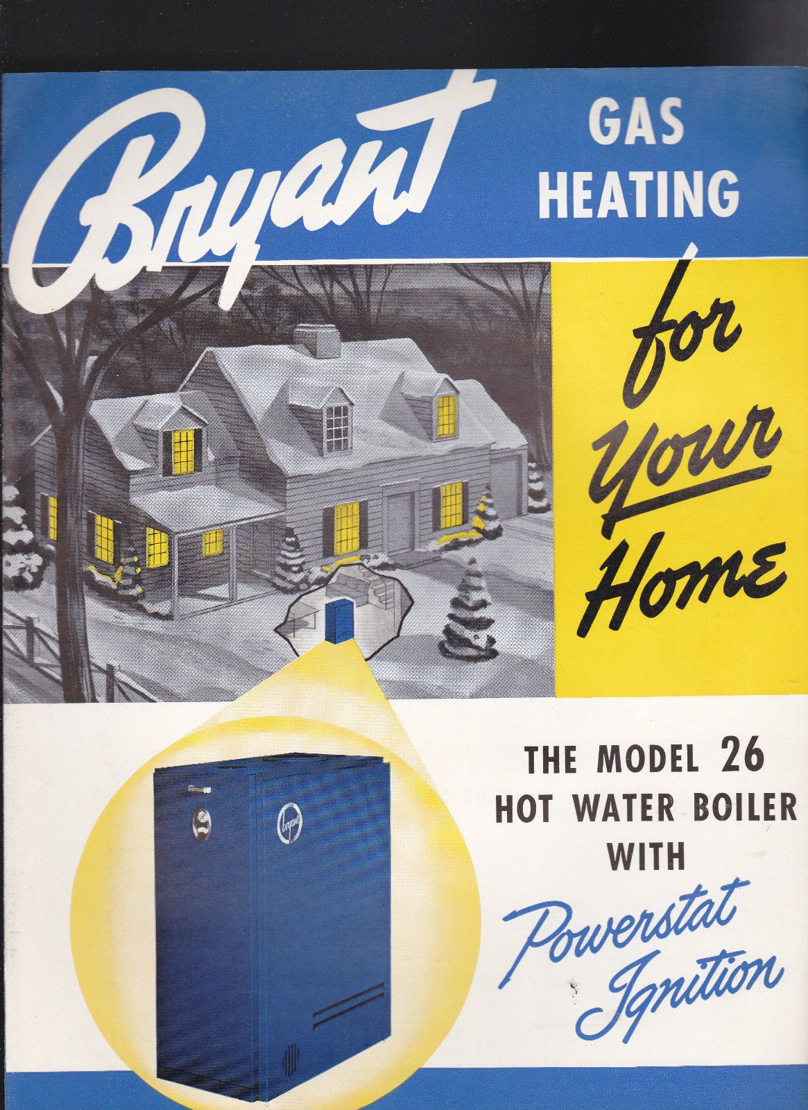 Bryant Gas Heating for Your Home Model 26 Hot Water Boiler