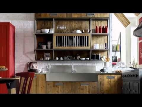 Cucina Componibile in stile moderno industrial, cucina angolare con ...