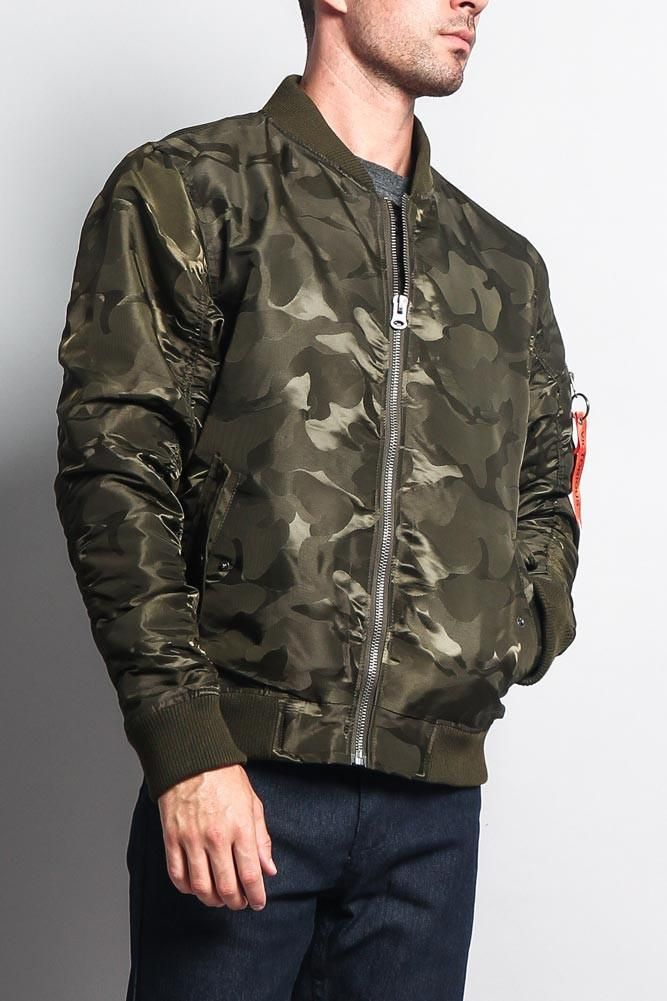 6eba45ee749b4 The MA-1 style flight/bomber jacket is a classic style that should be had  in every man's closet. Now offered in a tonal camouflage version, you'll be  able ...