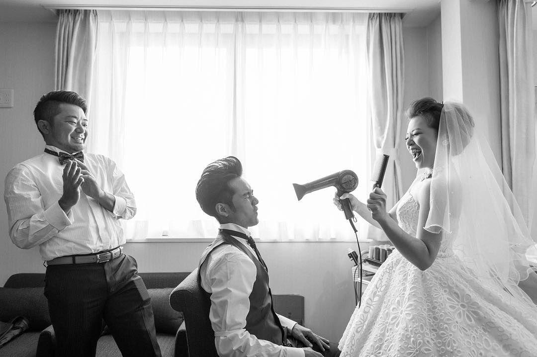 結婚式前撮り・ウェディングフォトの面白いポーズとアイデア