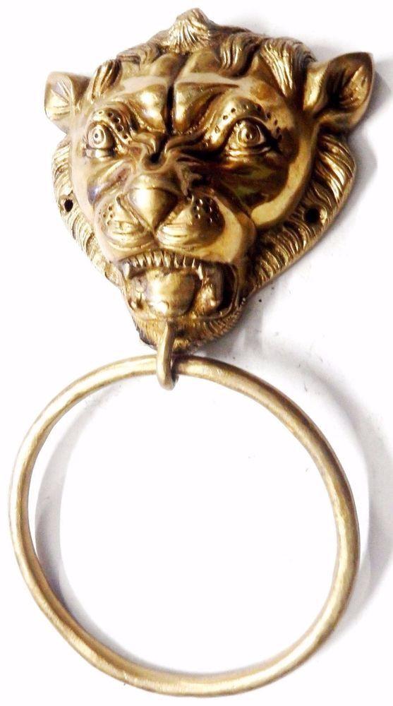 Door Knobs & Handles Golden Big Dragon Antique Finish Hadmade Brass Door Handle Pull Knob Home Decor Hardware