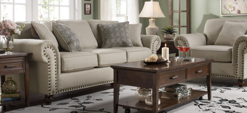 Raymour & Flanigan For a timeless living room with classic